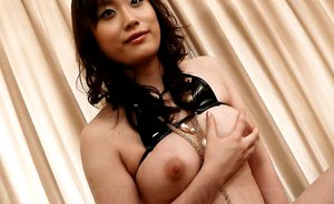 Hitomi Aizawa Asian with big firm cans has hot poonanie licked