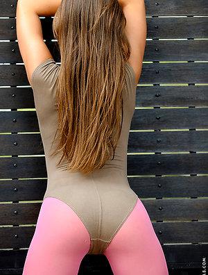 Maximum fitness from very sexy ukrainian girl
