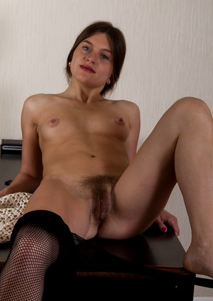 Gilian takes off dress and stockings to be nude