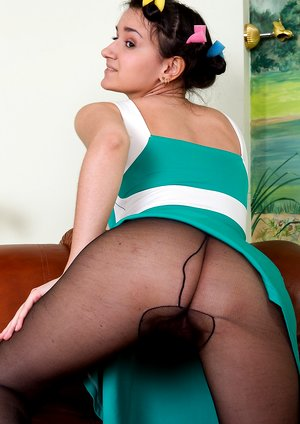 Ramira strips from sexy dress and stockings